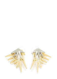Double Threat Spiked Earrings