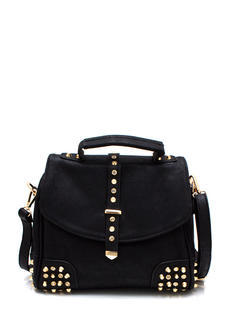 Studly Faux Leather Purse