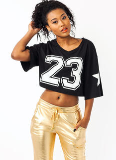 Star Athlete Cropped Jersey Tee