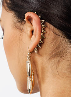 Bullet Points Spiked Ear Cuff