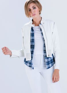 Zip Strip Convertible Moto Jacket