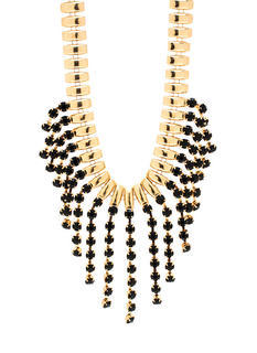 Fall Into Line Faux Gem Necklace