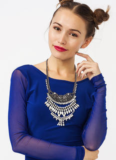 Treasure Chest Jeweled Necklace