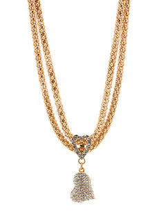 Sparkly Double Hearted Chainmail Necklace
