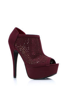 Speckled Laser Cut Out Booties