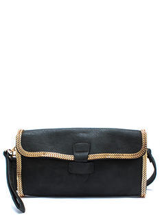 Chain Games Faux Leather Clutch