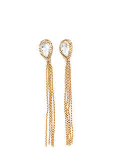 Show Your Facets Chain Tassel Earrings