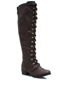 Lace Up Corset Riding Boots