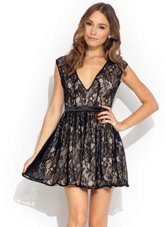 Racy Lacy Fit N Flare Dress