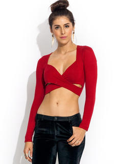 X Appeal Crossover Cropped Top