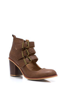 Buckle Up Cut Out Booties