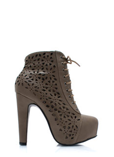 Laser Tagged Cut Out Booties