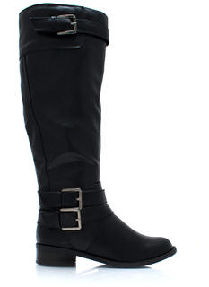 Tri Buckle Riding Boots