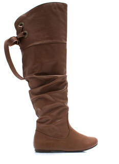 Laced Warrior Slouchy Boots