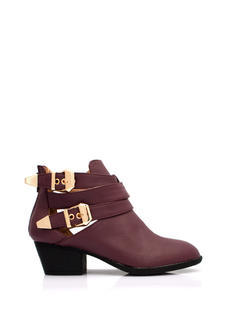 Straparound Cut Out Buckle Boots