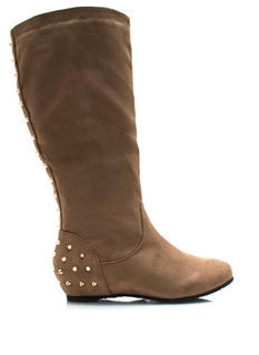 Stud Life Faux Suede Boots