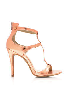 Screwed Strappy Reptile Heels
