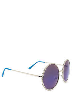 Well Rounded Rhinestone Sunglasses