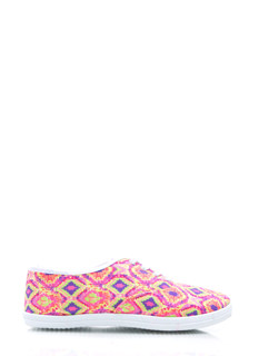 Aztechno Tribal Canvas Sneakers