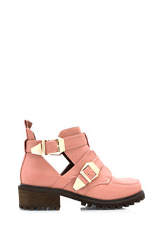 Tipped Off Strappy Cut Out Boots