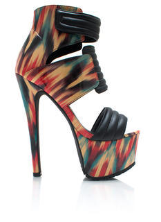 Tribal Close Up Strappy Heels