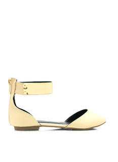 Plate It Cool Faux Leather Flats