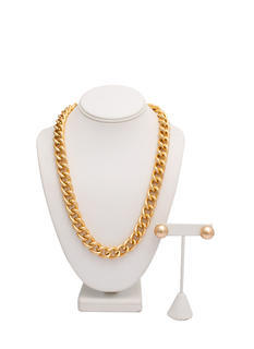 Balls And Chain Necklace Set
