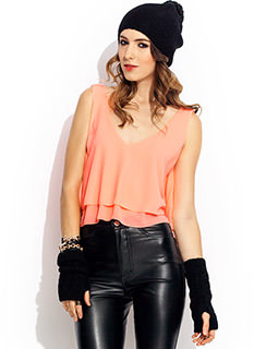 Double Layer Cropped Top