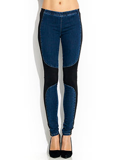 Contrast Combo Jeggings