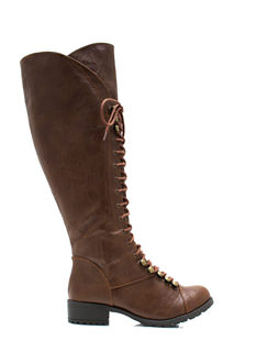 Hike It Up Tall Lace Up Boots