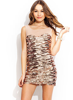 The Right Sequence Mini Dress