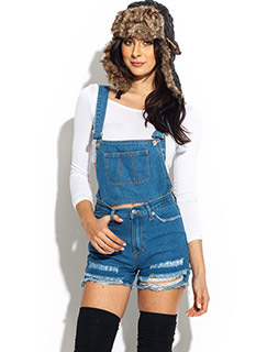 Destroyed 2-In-1 Overalls