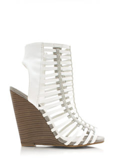 Read Between The Lines Strappy Wedges