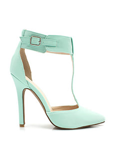 T-Strap Buckled Heels