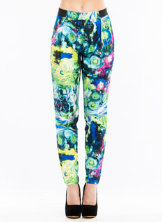 Impressionism Printed Trousers