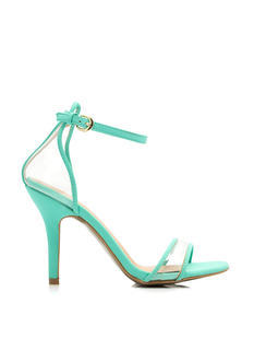 Clear The Way Ankle Strap Heels