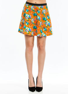 Flower Girl Textured Skater Skirt