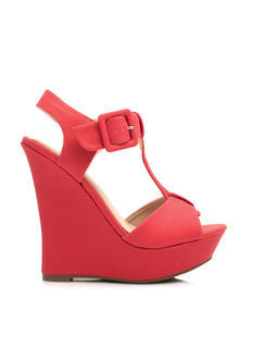Fit To A T Faux Nubuck Wedges