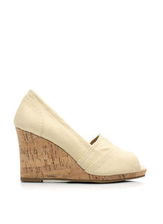 Wrapped Canvas Faux Cork Wedges