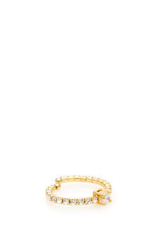 Open Jeweled Band Faux Diamond Ring