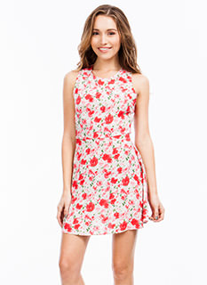 Painted Blossom Crossback Dress