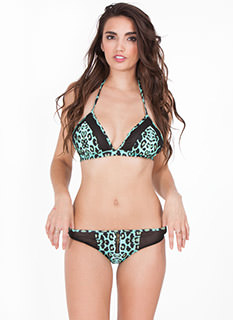 Zipper 'N Mesh Animal Bikini Set
