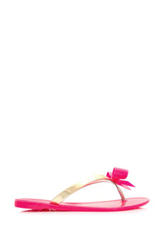 Bow-Dazzled Jelly Thong Sandals