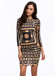 Spare Chain-ge Bodycon Dress