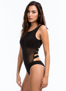 Rattle Your Cage Mesh Bodysuit