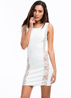 Lady In Lace Accent Dress