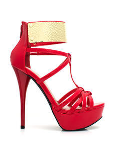 Get Hammered Strappy Ankle Cuff Heels