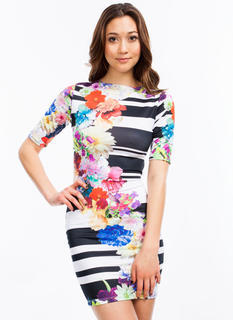 Print Mixer Bodycon Dress
