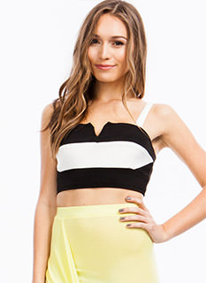 Colorblock Cropped Tank