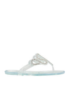 Do The Wave Jeweled Jelly Sandals